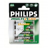 Аккумулятор Philips AA/ HR6/316 Ni-MH MultiLife 2300mAh (2шт/блистер)