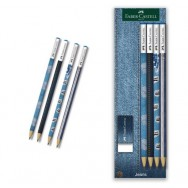 Карандаш Faber Castell 113033 Jeans набор 4шт с ластиком
