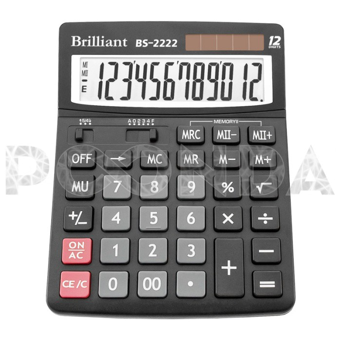 Калькулятор настольный 12 разрядный (DC-7812)