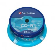 Диск CD-R Verbatim 700Mb 52х Cake 25 Extra